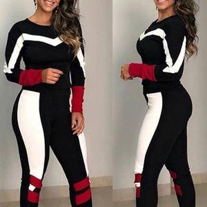 Striped Top & Bottom Set